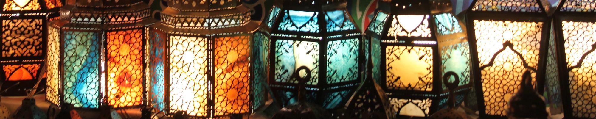 Up close of lanterns